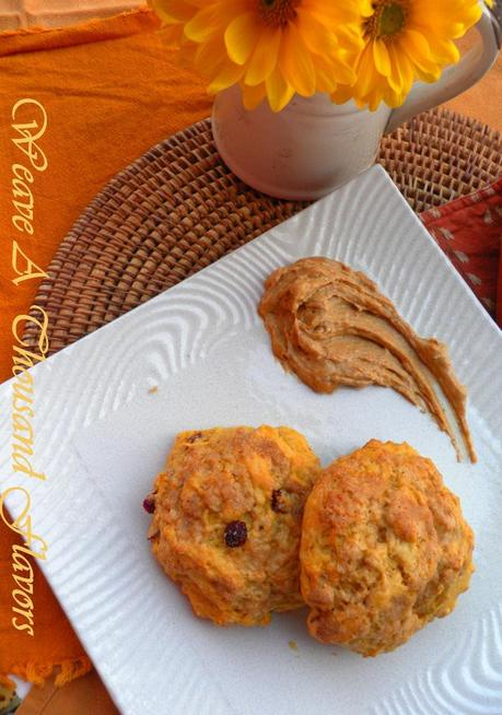 Pumpkin Cranberry Scones with pumpkin maple butter04