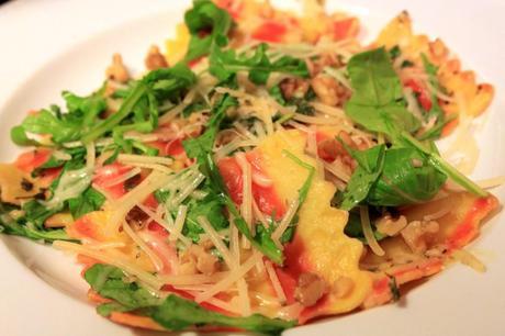 ... Squash Ravioli with Parmesan, Walnuts and Arugula - Paperblog