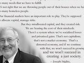 Joseph Stiglitz Said...