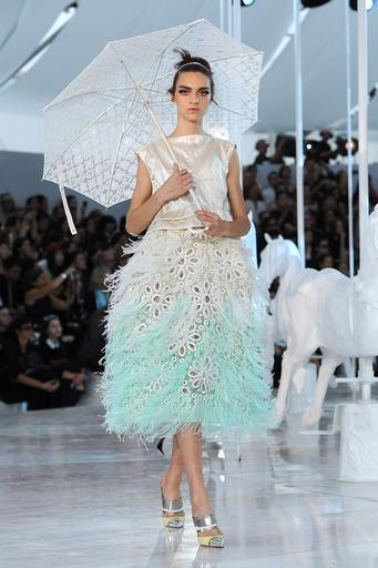 Feathers and pastels appear to be all the rage for spring summer 2012, as shown at both Chanel and Louis vuitton this fashion week.