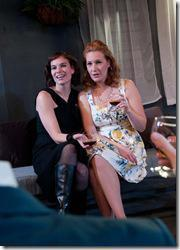 Michaela Petro and Abigail Boucher in Strawdog Theatre's 'Old Times,' by Harold Pinter. (photo credit: Chris Ocken)