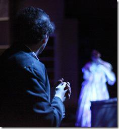Bob Kruse as Mr. Tennant, Delia Baseman as Ruth Foust - The Spirt Play