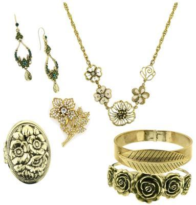 3 gold floralsFab Find Friday: Feeling Long, Bronze or Filigree?