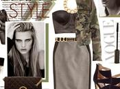 Fashion Trends:: Cropped Camo Pencil Skirts