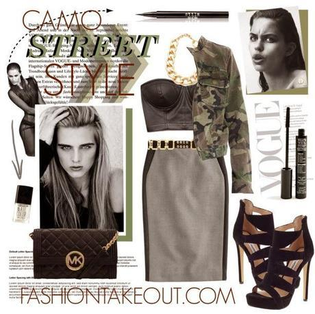Fashion Trends:: Cropped Camo and Pencil Skirts