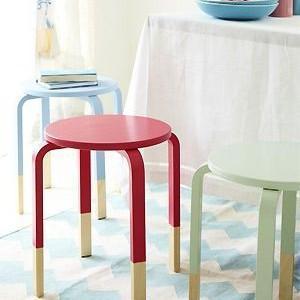 dipped ikea stools