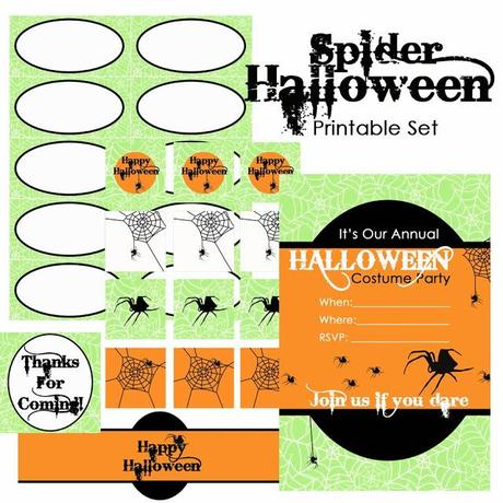 Free Spider Halloween Printable Set