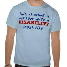 disabled with tee shirt