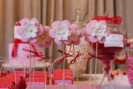 Pink and Red Polka Dot Themed 1st Birthday by Eat Sweet Treats