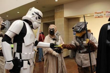 Star Wars characters from the Midwest Garrison at the show