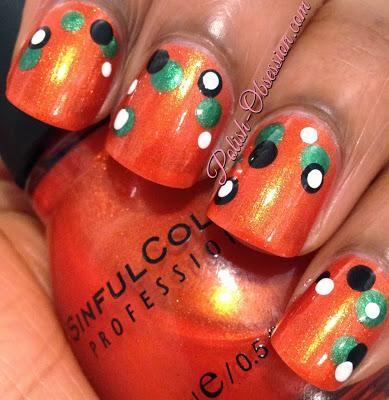 Busy Girl Fall Nail Art Challenge - Orange