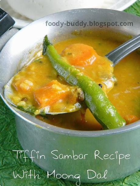Tiffin Sambar Recipe | Idly Sambar Recipe With Moong Dal