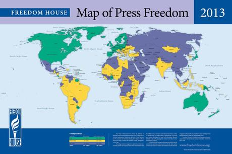 Different maps of world freedom
