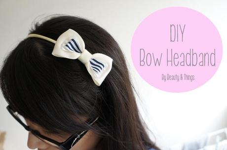 DIY bow headband