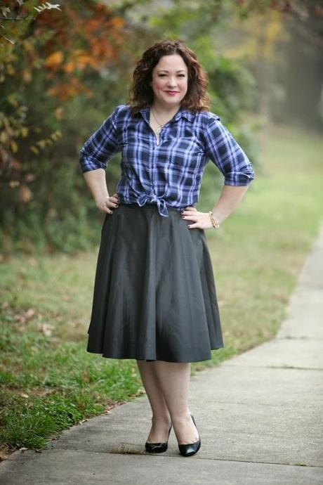 What I Wore: Glam Plaid