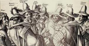 Guy Fawkes with his cronies image from educationscotland.gov.uk