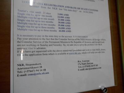 visa application nagorno karabakh stepanakert