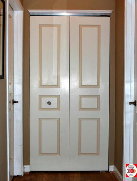 Painting interior doors in two colors see how we did it for Painted interior door designs