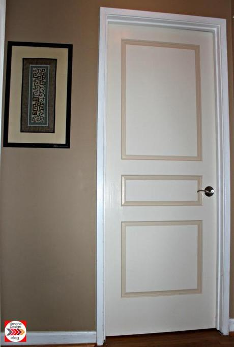 Painting interior doors in two colors see how we did it for Bedroom entrance door designs