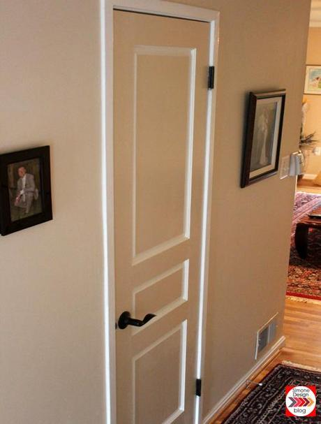 Painting interior doors in two colors see how we did it for Two tone interior paint ideas