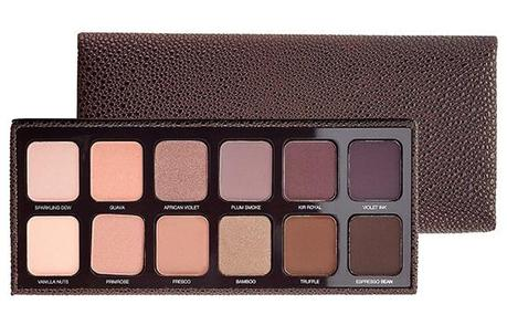 Artist Palette ($58.00) (Limited Edition, Sephora Exclusive)  Enclosed in a luxurious textured, chocolate brown case, this complete compact includes a large mirror and 12 eye colors hand selected by Laura Mercier. Mix and match for endless eye looks. 0.03 oz x 12 in Eye Colour in Sparkling Dew, Guava, African Violet, Plum Smoke, Kir Royal, Violet Ink, Vanilla Nuts, Primrose, Fresco, Bamboo, Truffle, Espresso Bean.