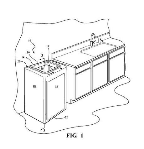Concept diagram of a new indoor composter from a Whirlpool patent application.