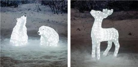 outdoor christmas lighting decorations from the white stores polar scene lights
