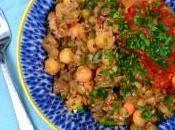 Healthy International Recipe: Egyptian Kosheri with Quinoa, Lentils Chickpeas
