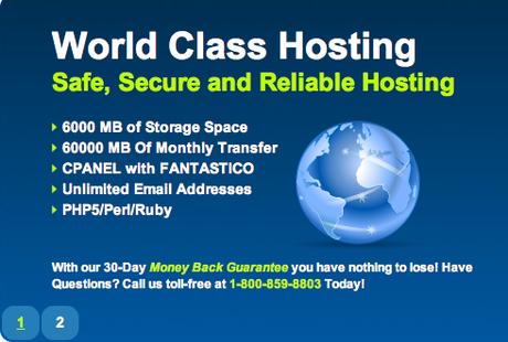 Original page of the hosting website