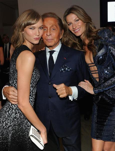 Karlie Kloss, Valentino Garavani and Gisele Bundchen
