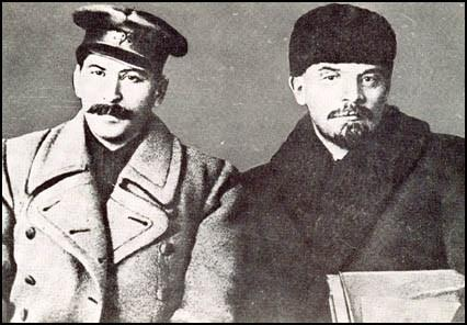 Stalin and Lenin in 1917.