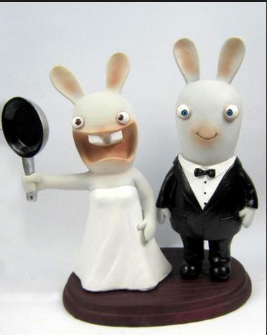rabbit wedding cake top