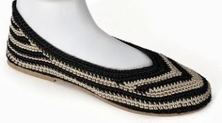 Shoe of the Day | Painted Bird Wave Crocheted Ballet Flats