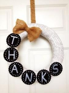 simple thanksgiving wreath adorable you