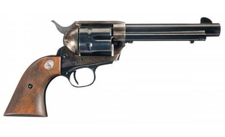 A Colt .45, definitely the choice of Old West badasses.