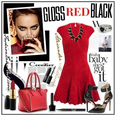 LUXE Fashion Style:: Gloss Red Black with Alexander McQueen