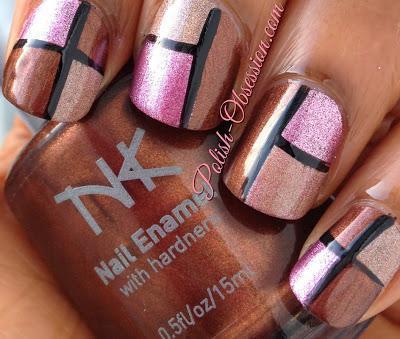 Busy Girl Nail Art Challenge - Dark Brown