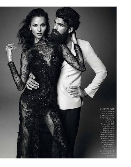 Egle Tvirbutaite and Dimitris Alexandrou by Alvaro Beamud Cortes for Vogue Spain Brides