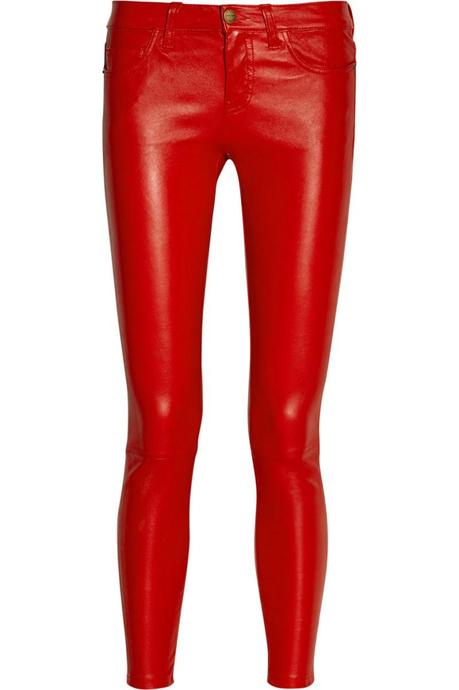 CURRENT:ELLIOTT The Stiletto mid-rise leather leggings-style pants €1,091.