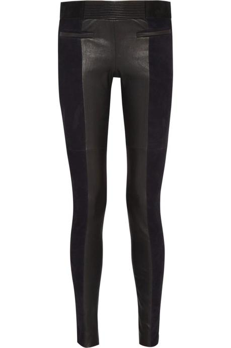 ISABEL MARANT Idris suede and leather skinny pants €1,480