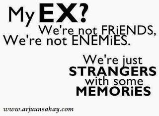 a quote on how ex become a memory of a stranger