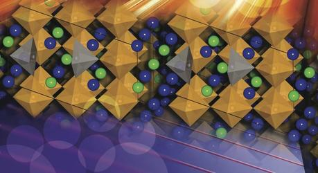 An illustration of the perovskite crystal fabricated in the experiment.