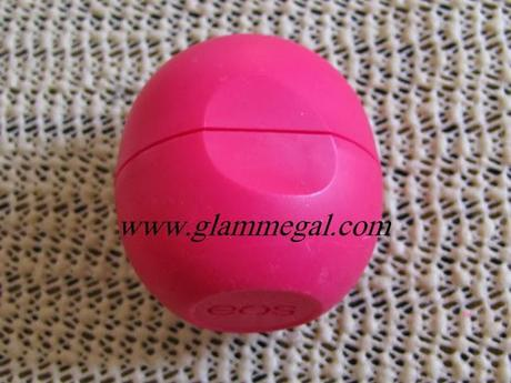 eos lip balm in pomegranate raspberry review