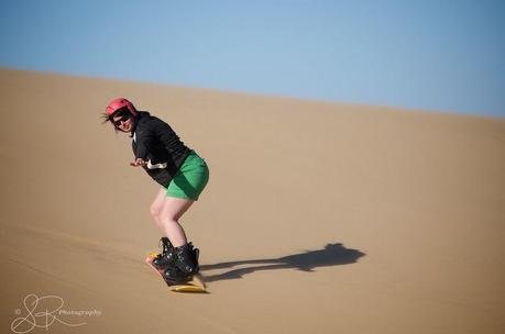 One of the few seconds where I managed to stand up while sandboarding.