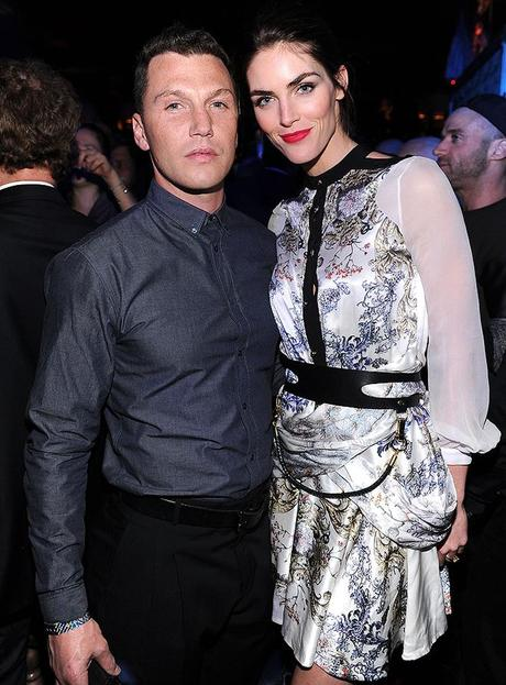 Sean Avery and model Hilary Rhoda attend the 2013 Victoria's Secret Fashion after party at TAO Downtown