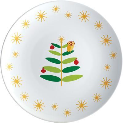 Rachael Ray Holiday Hoot 14-Inch Round Platter