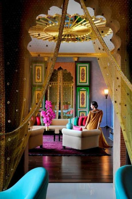 Simone Design Blog|Commercial interiors that are inspiring with its color scheme|Taj Mahal lobby decorated in the rich vibrant colors