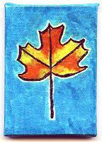 Sharpie Leaf on Mini Canvas