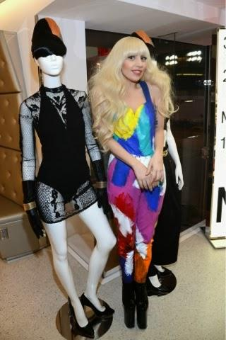 LADY GAGA AT H&M; STORE OPENING IN TIME SQUARE
