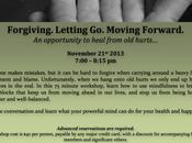Forgiving. Letting Moving Forward.